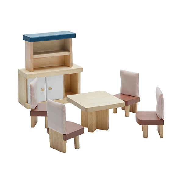 典藏娃娃屋-餐廳(清新藍) 泰國,天然橡膠木,木製娃娃屋家具,扮家家酒