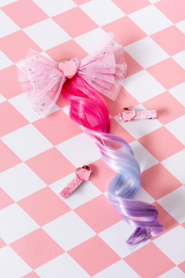 Soda n' Cream寶石公主捲髮Bow-粉
