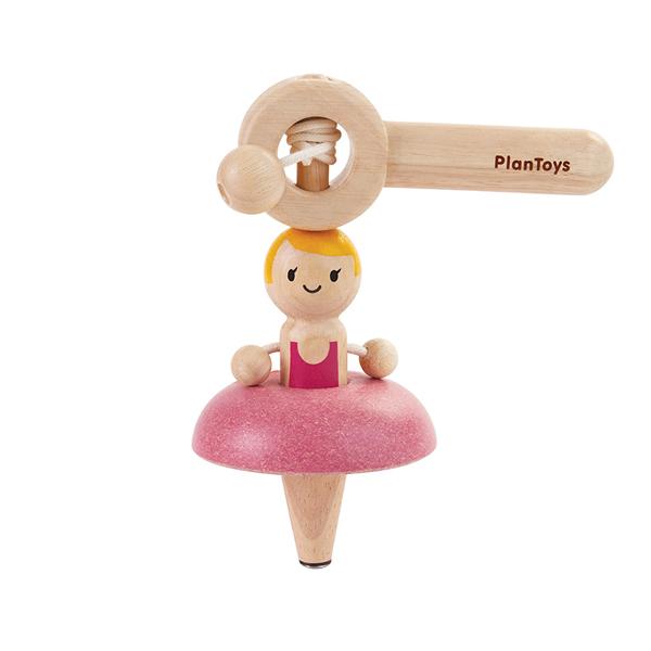 經典木作童玩-芭蕾舞陀螺轉轉樂