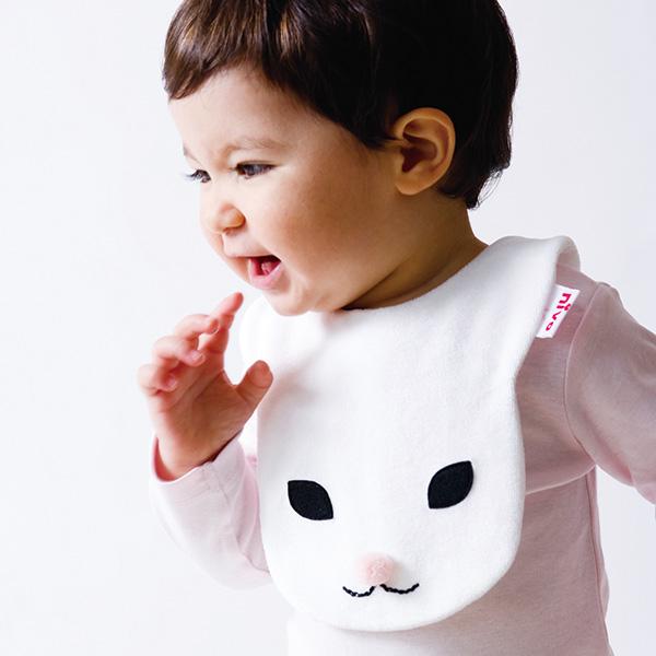 動物造型圍兜/口水巾(兔寶寶滴滴粉紅)