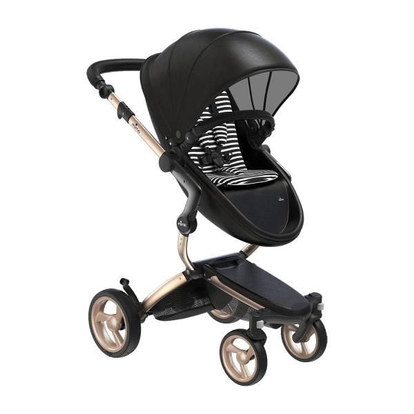 xari 頂級嬰兒推車-曜石黑(車架:流光金/晶礦灰) 西班牙mima,xari頂級嬰兒推車,戰車型推車,環保皮革面料,2in1內置提籃,氣壓式踏板煞車