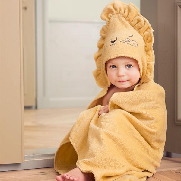 嬰幼兒連帽浴巾(Sweet Honey Harry 獅子王)