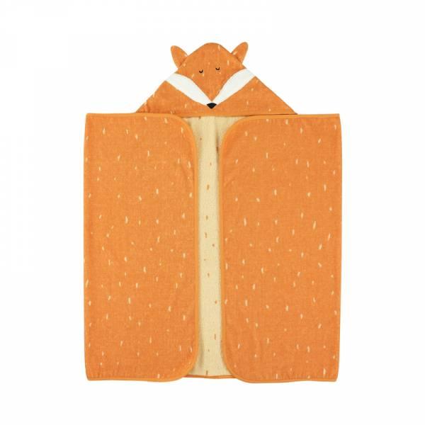 動物造型有機棉連帽浴巾-聰明狐狸 比利時trixie,有機棉浴巾,動物造型浴巾,嬰幼兒連帽浴巾,吸水力極佳
