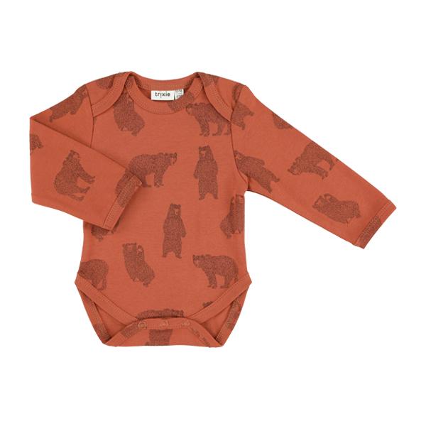 有機棉長袖包屁衣-勇敢小熊 比利時trixie,有機棉,包屁衣,吸汗透氣,歐洲製造