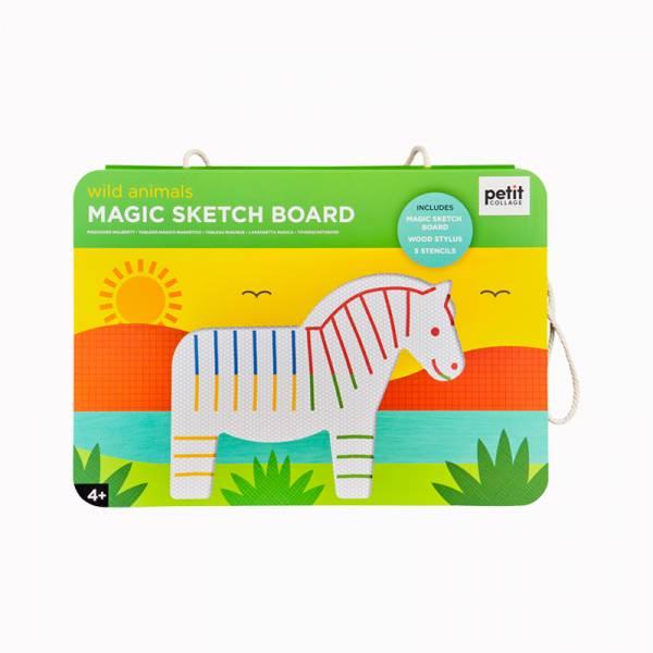 彩色磁性塗鴉板-野生動物 美國Petit Collage,磁性畫板,繪畫,色彩認知,創造力