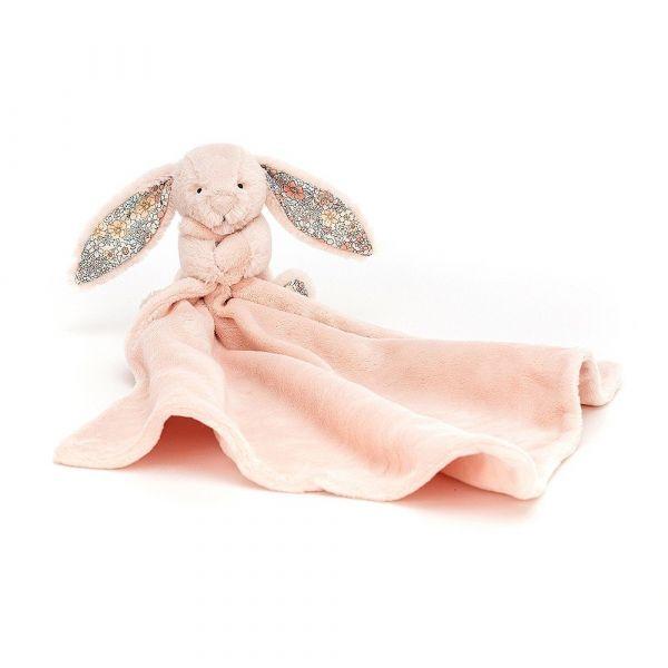 Blossom Blush Bunny Soother 馬卡龍粉碎花兔安撫巾 jellycat,舒適柔軟系列,寶寶的第一個禮物,寶寶的第一條安撫巾,送禮推薦,媽媽必敗,安撫神器,五感刺激