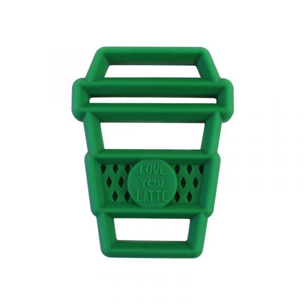 造型矽膠固齒器-抹茶拿鐵 美國Itzy Ritzy,固齒器,矽膠固齒器,可使用消毒鍋,減緩長牙不適感