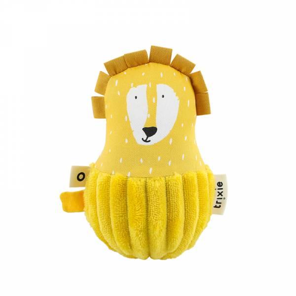 寶寶搖鈴不倒翁-陽光獅子 比利時trixie,動物不倒翁,嬰幼兒玩具,五感玩具,安撫玩具