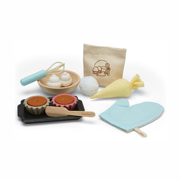 小主廚-杯子蛋糕烘焙組 泰國,天然橡膠木,烘焙組,杯子蛋糕,小主廚