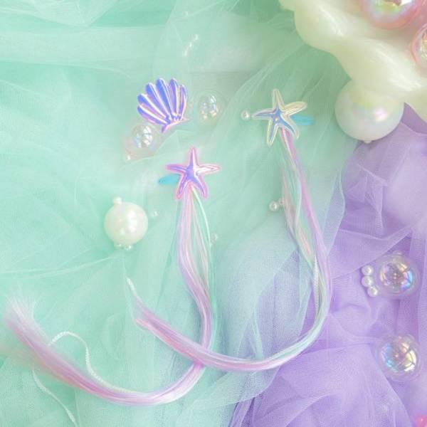 Soda n' Cream水精靈亮片髮絲夾-紫綠