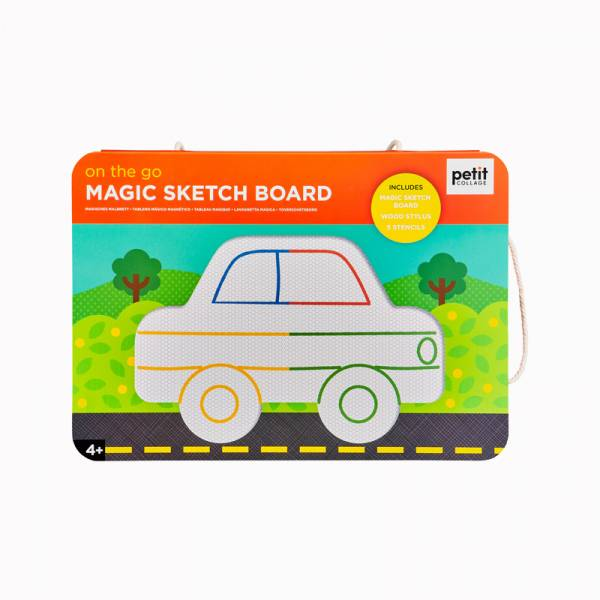 彩色磁性塗鴉板-忙碌交通 美國Petit Collage,磁性畫板,繪畫,色彩認知,創造力