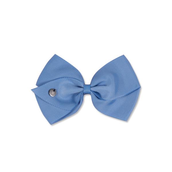 Mon Bonbon經典蝴蝶結髮夾(藍色系-大)