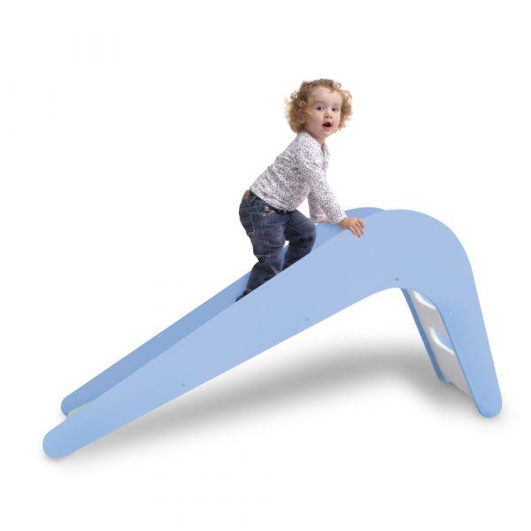 德國頂級木製溜滑梯(粉藍)
