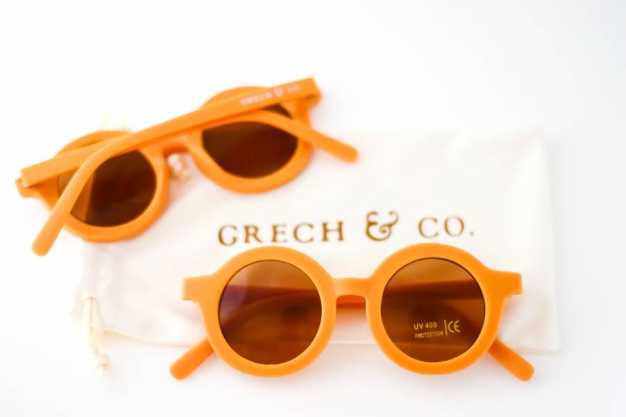 兒童太陽眼鏡(杏黃色) 丹麥,太陽眼鏡,墨鏡,抗UV400,適合18個月到6歲,兒童時尚,環保再生塑料