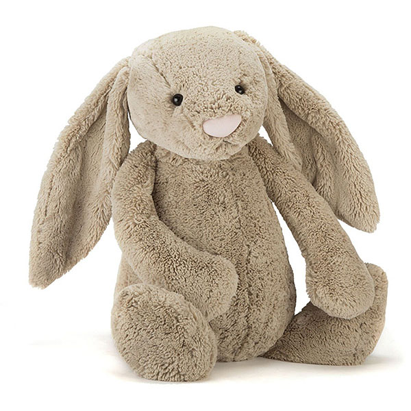 Bashful Beige Bunny 拿鐵灰兔(108cm/67cm/51cm/36cm) jellycat,Bashful Bunny,兔子,英國絨毛玩偶,送禮推薦,媽媽必敗,好萊塢明星,寶寶第一個好朋友