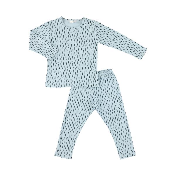 有機棉長袖家居服-藍色森林 比利時trixie,有機棉,家居服,吸汗透氣,歐洲製造