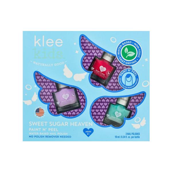Klee Kids 可麗女孩指彩組-甜蜜天使 美國Klee Kids,水性指甲油,兒童指甲油,快乾無味,可剝除