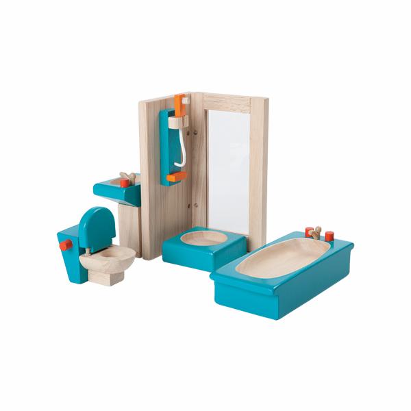 典藏娃娃屋-浴室 泰國,天然橡膠木,木製娃娃屋家具,扮家家酒