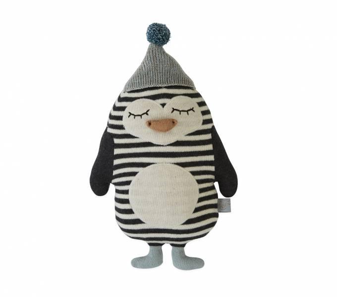 寶貝造型抱枕-巴伯企鵝 OYOY,丹麥家居,企鵝,造型抱枕,針織抱枕,家飾品