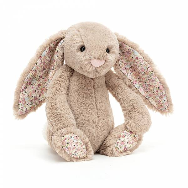 Blossom Bea Beige Bunny 碎花灰褐兔(31cm) jellycat,Bashful Bunny,碎花兔,英國絨毛玩偶,送禮推薦,媽媽必敗,好萊塢明星,寶寶第一個好朋友