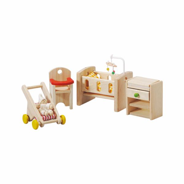 典藏娃娃屋-嬰兒房 泰國,天然橡膠木,木製娃娃屋家具,扮家家酒