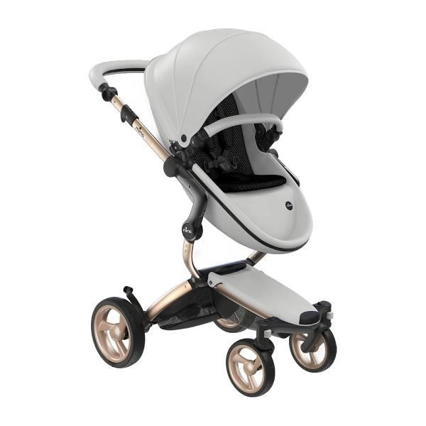 xari 頂級嬰兒推車-冰雪白(車架:流光金/晶礦灰)
