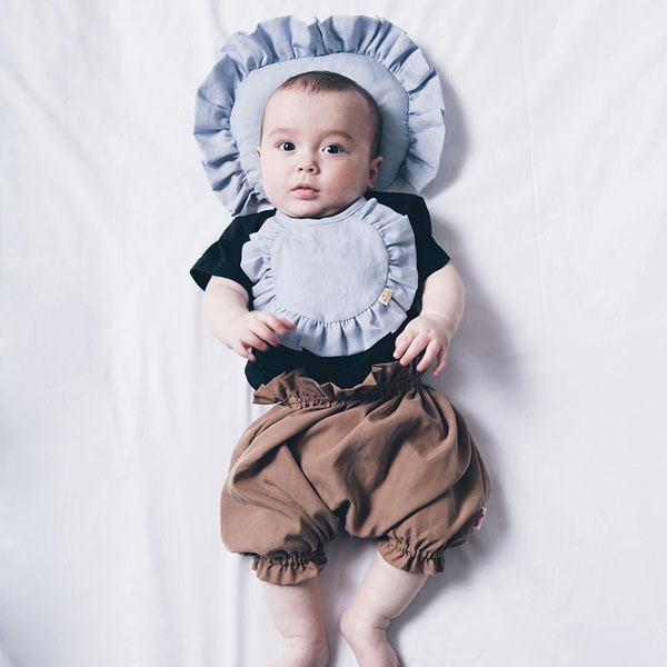 可愛造型圍兜/口水巾(好寶寶藍)