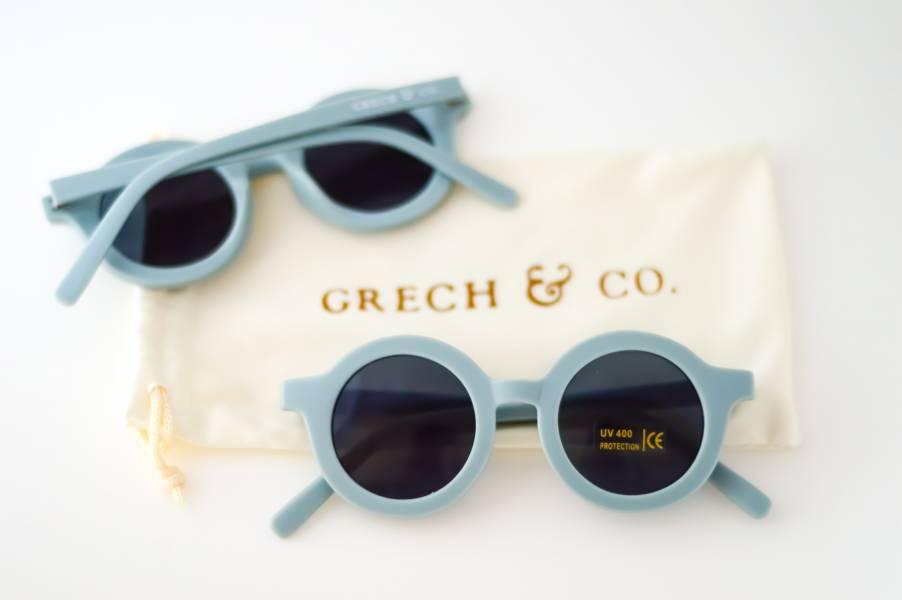 兒童太陽眼鏡(天空藍) 丹麥,太陽眼鏡,墨鏡,抗UV400,適合18個月到6歲,兒童時尚,環保再生塑料