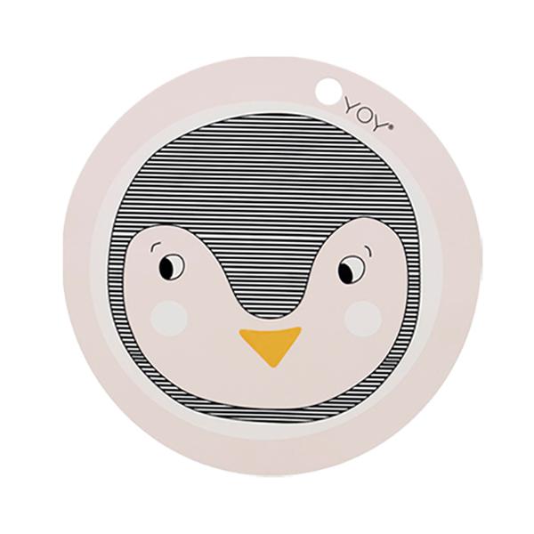 圓形矽膠餐墊-企鵝 OYOY,丹麥家居,企鵝,矽膠餐墊,餐桌美學,家飾品,易清洗