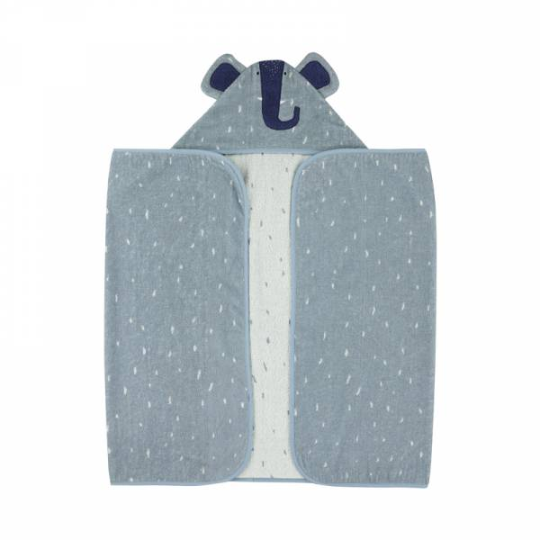 動物造型有機棉連帽浴巾-逗趣小象 比利時trixie,有機棉浴巾,動物造型浴巾,嬰幼兒連帽浴巾,吸水力極佳