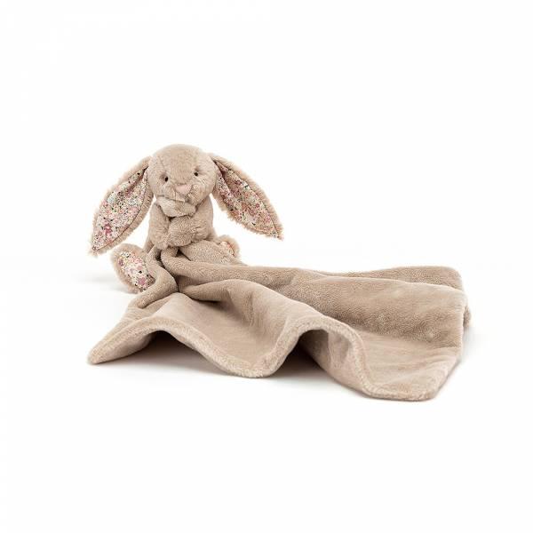 Blossom Bea Beige Soother 灰褐碎花兔安撫巾 jellycat,舒適柔軟系列,寶寶的第一個禮物,寶寶的第一條安撫巾,送禮推薦,媽媽必敗,安撫神器,五感刺激