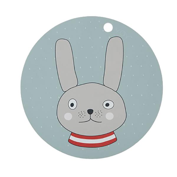 圓形矽膠餐墊-格雷小兔 OYOY,丹麥家居,格雷小兔,矽膠餐墊,餐桌美學,家飾品,易清洗