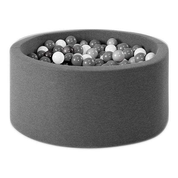 波蘭遊戲球池-90x40(深灰) 共4種組合球色可選