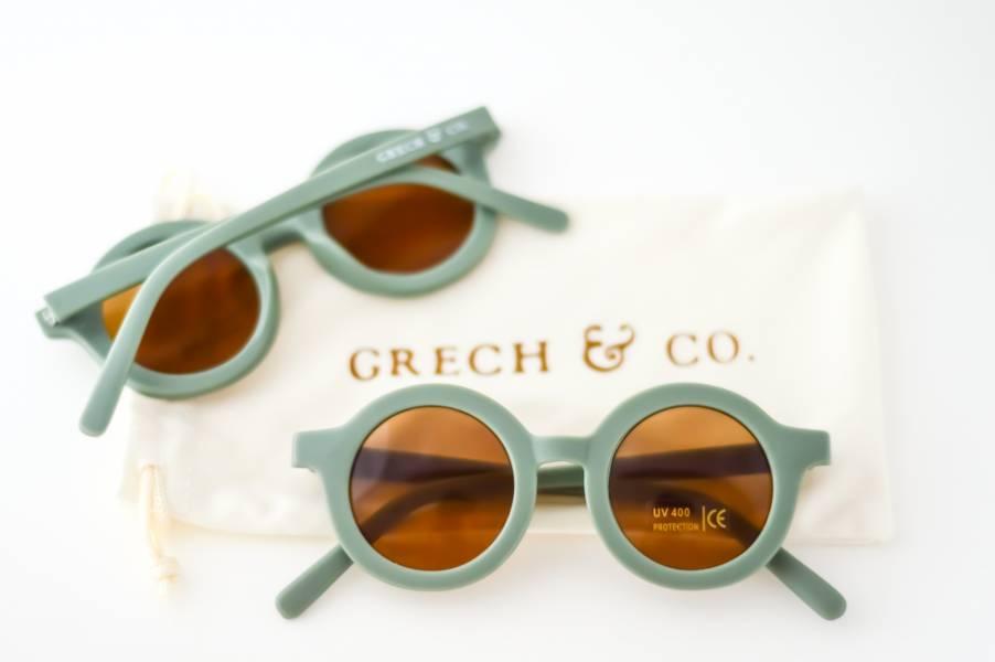 兒童太陽眼鏡(蕨青色) 丹麥,太陽眼鏡,墨鏡,抗UV400,適合18個月到6歲,兒童時尚,環保再生塑料