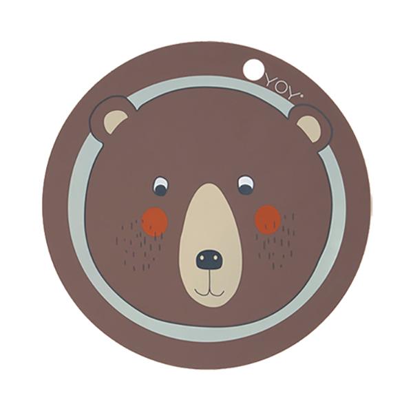 圓形矽膠餐墊-快樂熊 OYOY,丹麥家居,快樂熊,矽膠餐墊,餐桌美學,家飾品,易清洗