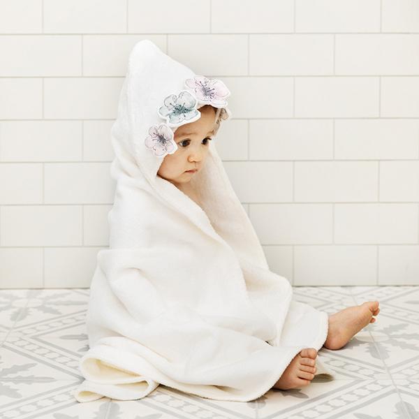 嬰幼兒連帽浴巾(Embedding Bloom 花花世界)