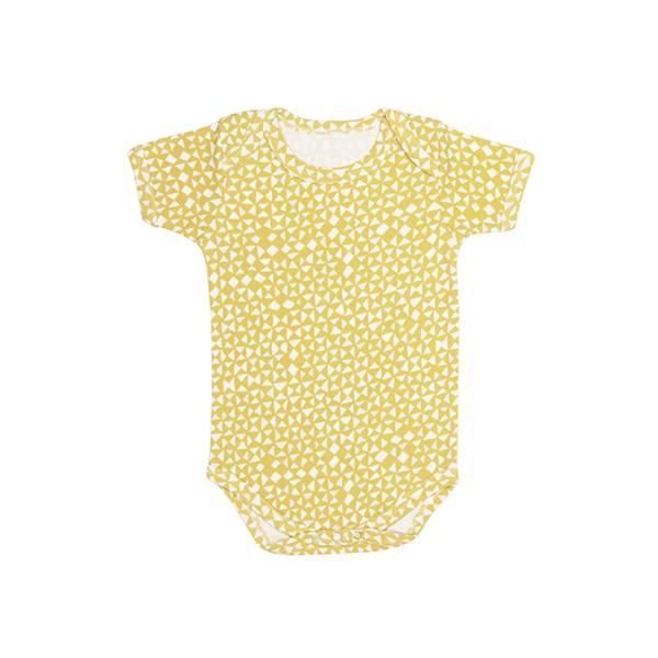 有機棉短袖包屁衣-金黃起司 比利時trixie,有機棉,包屁衣,吸汗透氣,歐洲製造