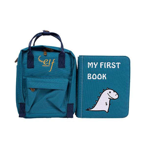 第一冊-生活技能練習篇(海洋藍) My First Book,布書,DIY,啟蒙,撕不爛布書,童書,蒙特梭利,早教