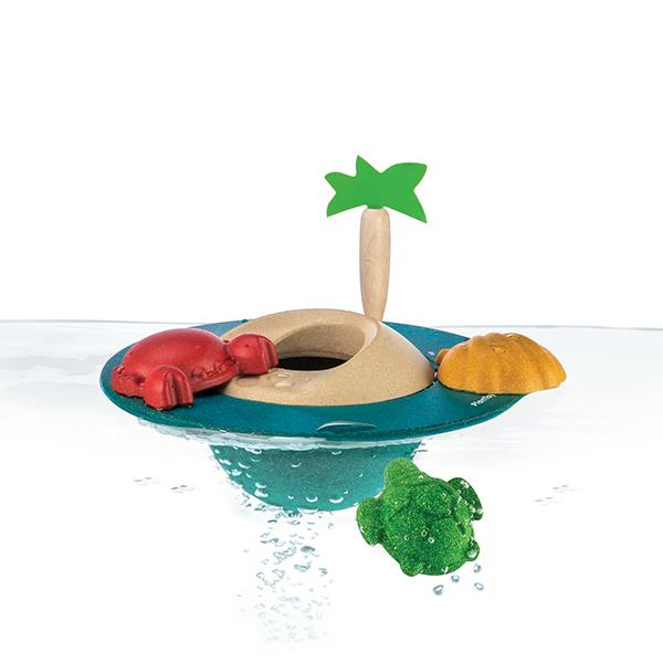 木作水玩具-漂浮小島