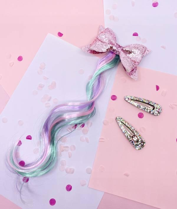 Soda n' Cream甜甜公主Bow捲髮夾組-粉