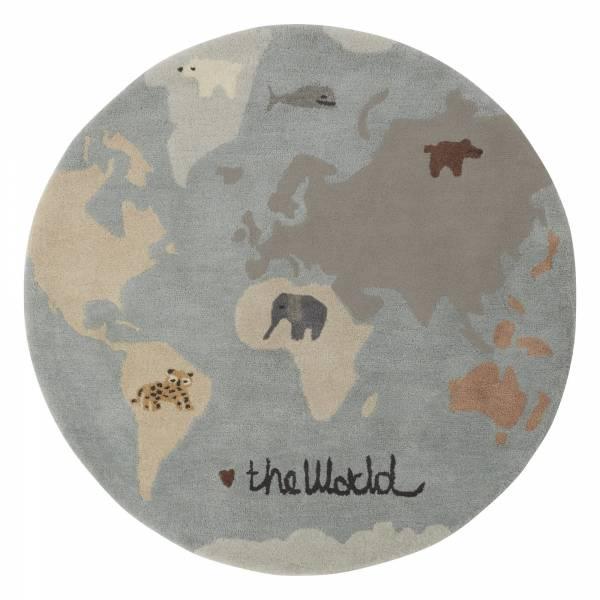造型手工羊毛地毯-世界動物地圖 OYOY,丹麥家居,羊毛地毯,世界動物地圖,兒童房佈置,家飾品