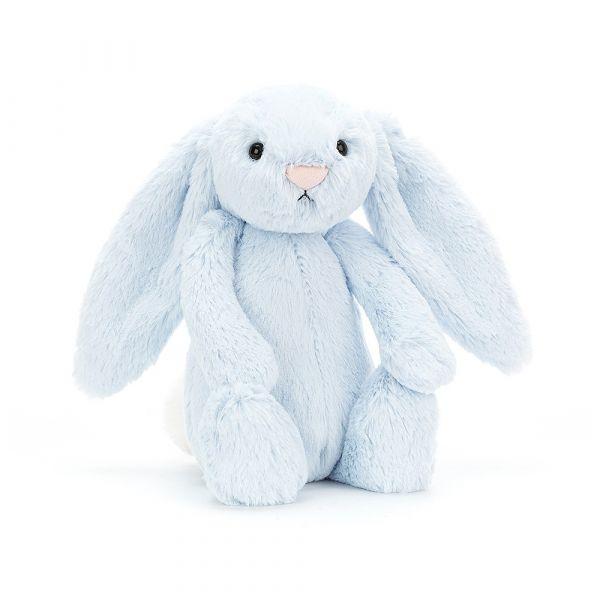 Bashful Blue Bunny 寶貝藍兔(31cm/51cm) jellycat,Bashful Bunny,兔子,英國絨毛玩偶,送禮推薦,媽媽必敗,好萊塢明星,寶寶第一個好朋友