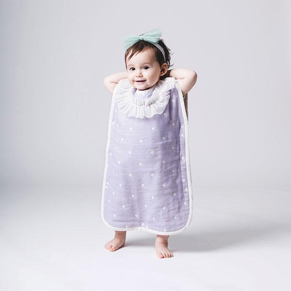 嬰幼兒六重紗水玉點點防踢被(小公主/小甜心二款)