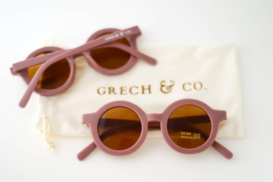 兒童太陽眼鏡(藕粉色) 丹麥,太陽眼鏡,墨鏡,抗UV400,適合18個月到6歲,兒童時尚,環保再生塑料