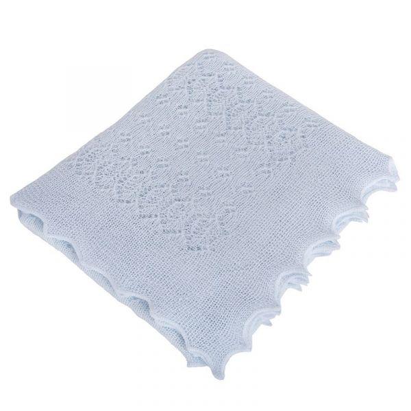 輕暖柔紗蕾絲包巾(沉靜藍) 英國皇室御用,英國製,包巾,送禮自用