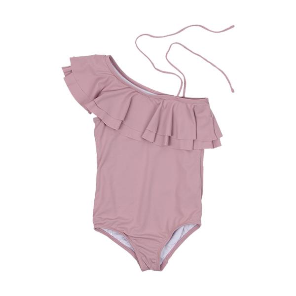 單肩綁帶泳裝(紫羅蘭)