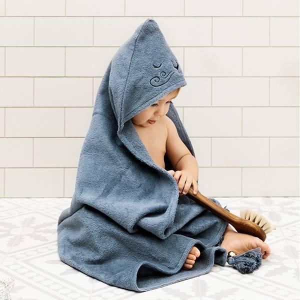 嬰幼兒連帽浴巾(Tender Blue 威尼獅)