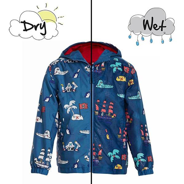 英國變色雨衣(藍色海盜) 英國Holly and Beau,神奇變色雨衣,防風防水,外套