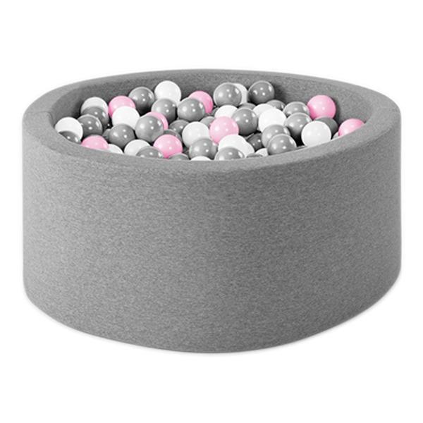 波蘭遊戲球池-100x40(淺灰) 共2種組合球色可選