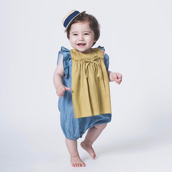 可愛造型圍兜/口水巾(優雅女孩黃)